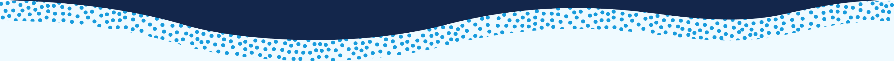 blue dots on white wave