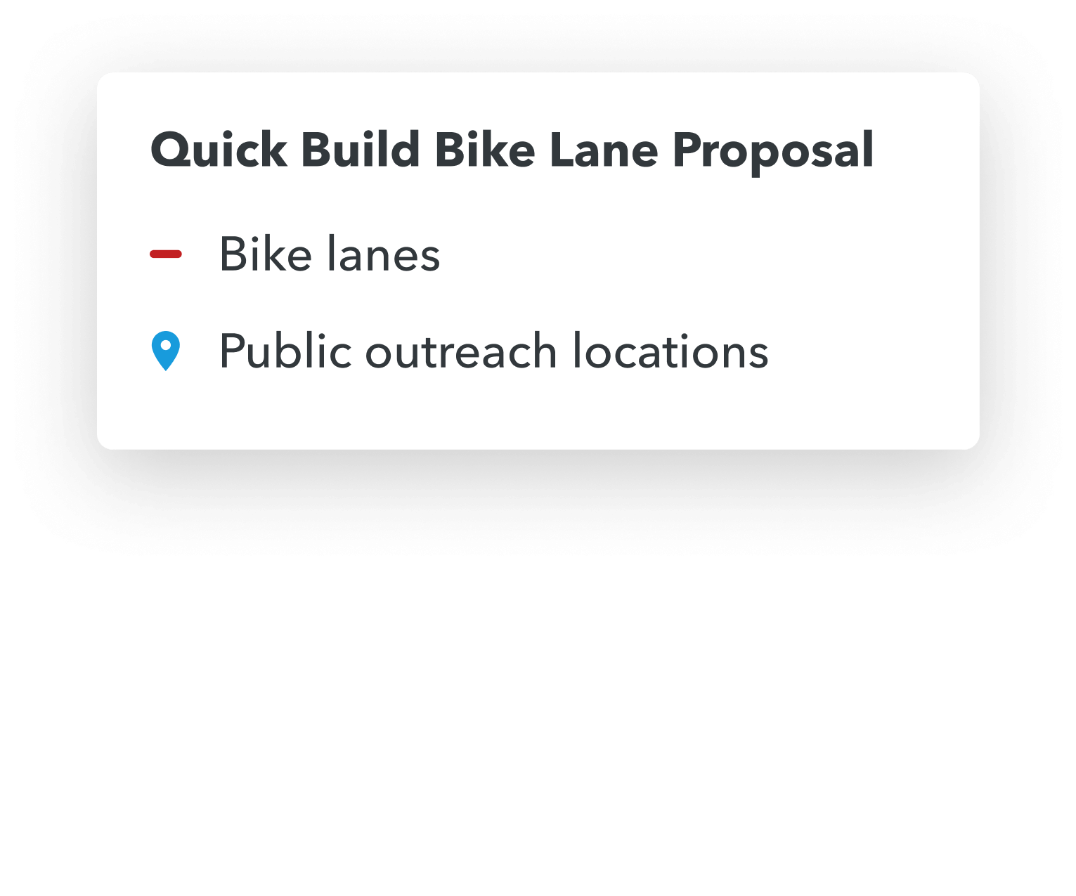 quick build bike lane proposal legend