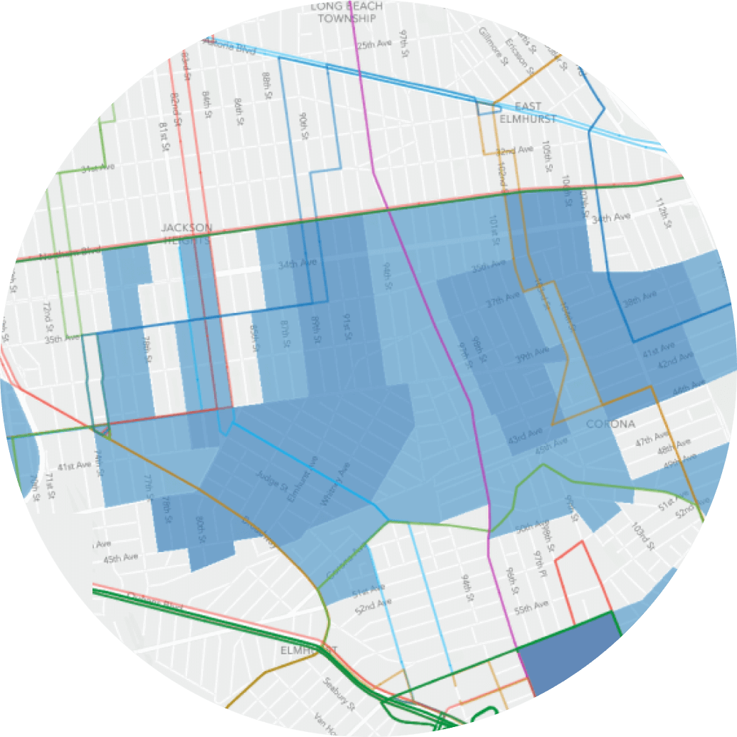 essential employee neighborhood map