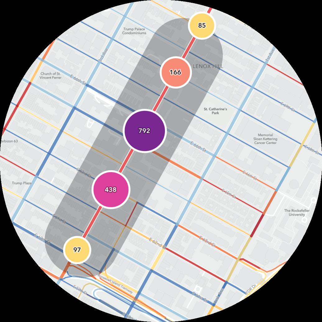 Transit stop data