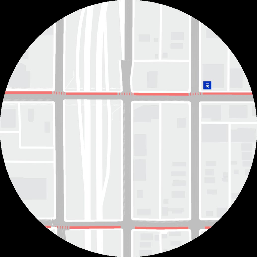 Mapa de trânsito e ruas