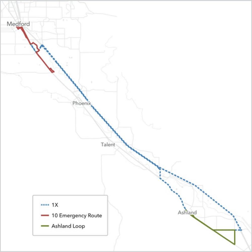RVTD emergency transit routes