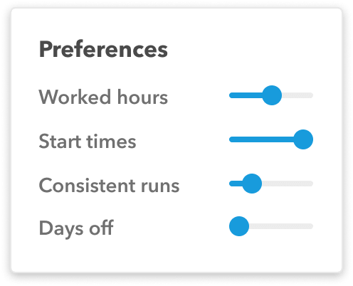 Remix Scheduling Preferences panel