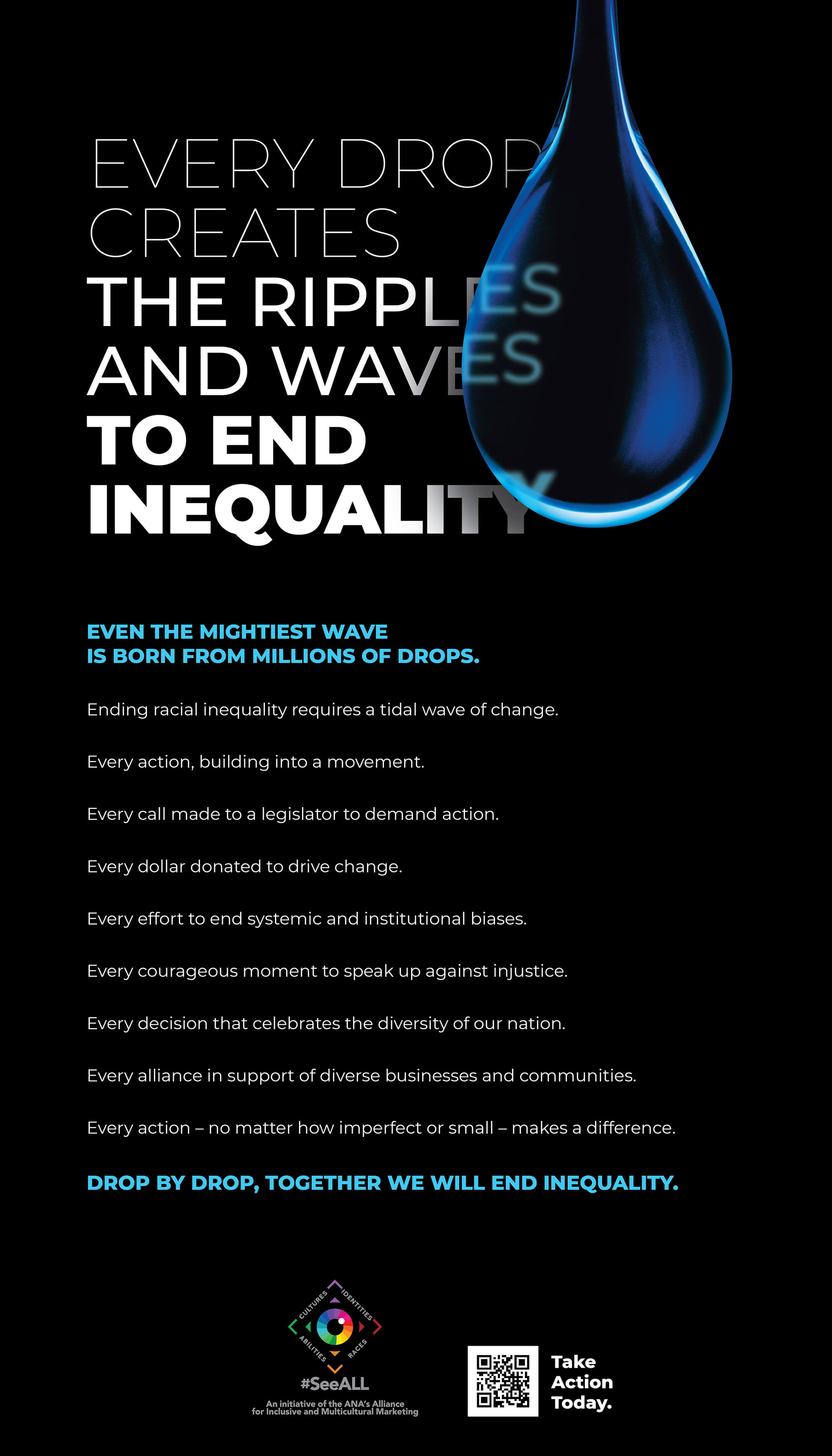 Every Drop Creates Ripples and Waves to End Inequality