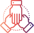 Icon of hands shaking