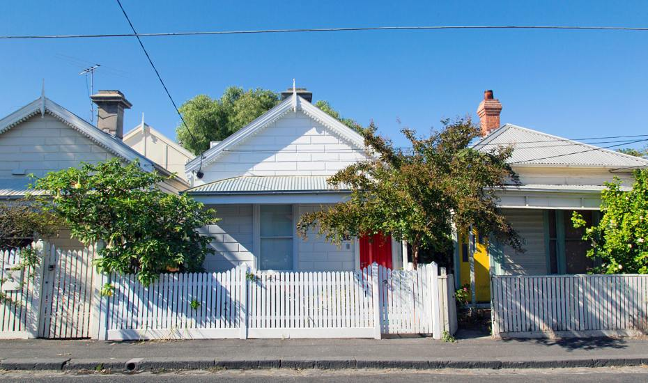 row of detached houses in st kilda melbourne