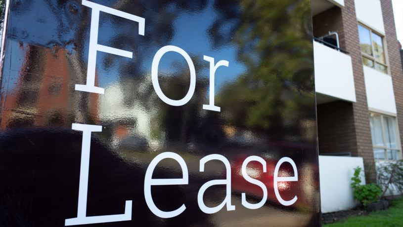 for lease sign in front of a property in melbourne