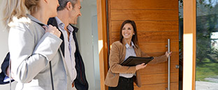 Property manager meeting potential tenants