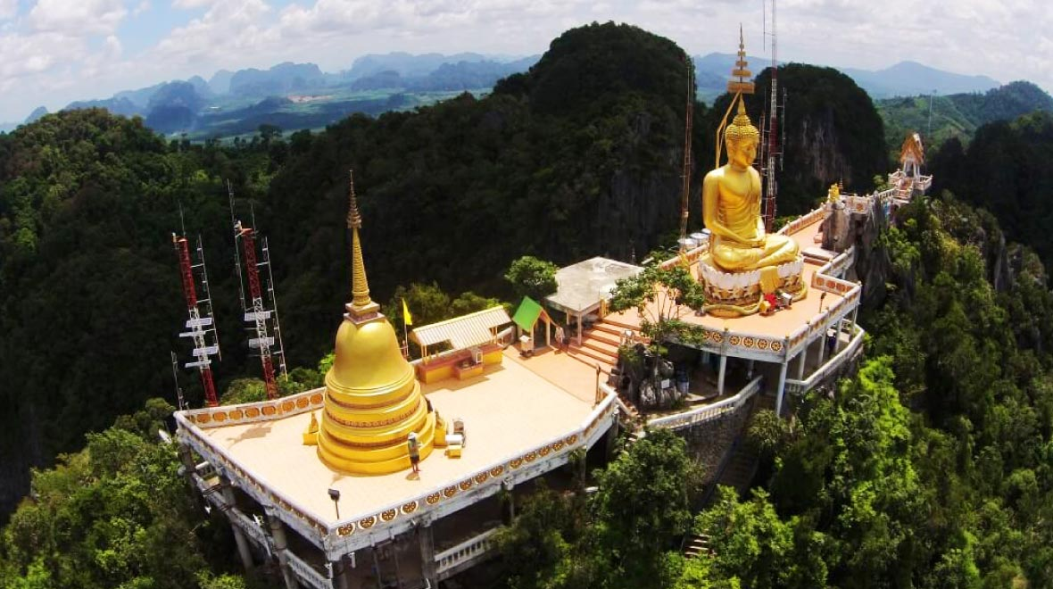 View of Wat Tham Sua (Tiger Cave Temple)