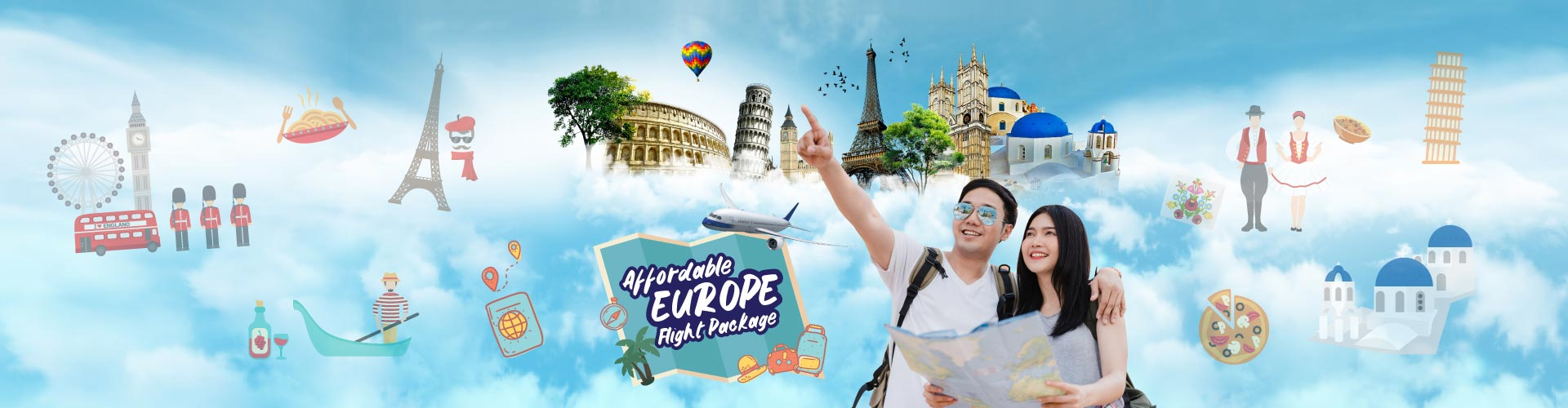 Affordable Europe Flight Package