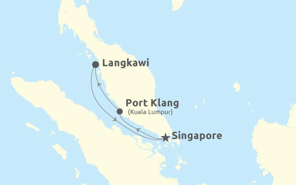 Singapore - Port Klang - Langkawi - Singapore
