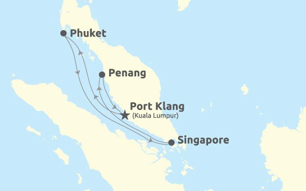 Port Klang - Phuket - Singapore - Penang - Port Klang