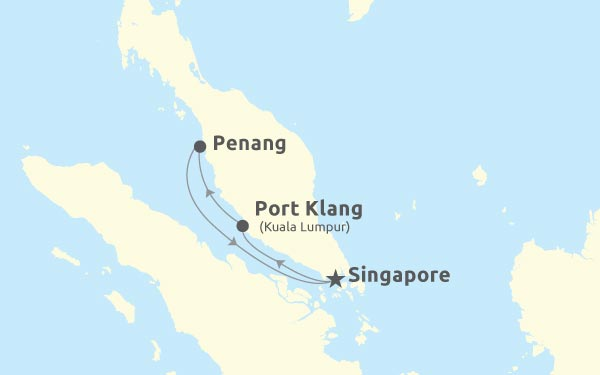 Singapore - Port Klang - Penang - Singapore