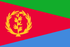 Eritrea sitt flagg