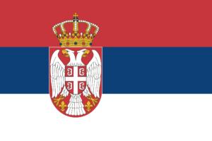 Serbia sitt flagg