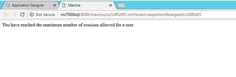 5-maximo-error-message