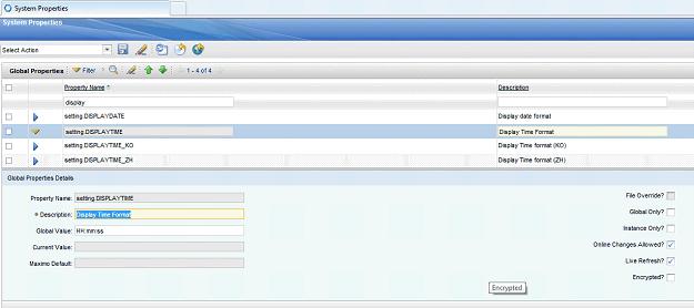 IBM Maximo Display Time Setting