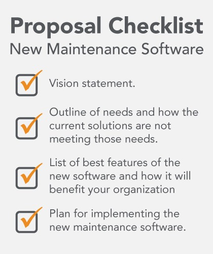 New Maintenance Software Checklist