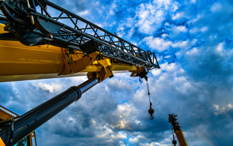 A crane being used in a STO.