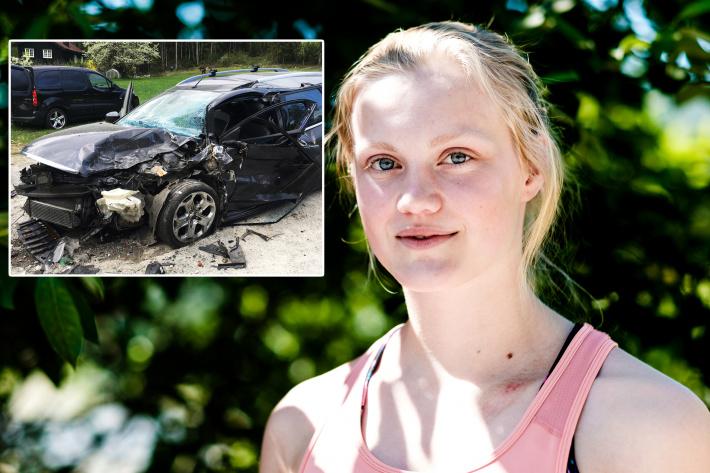 Landslagskjører i dramatisk bilulykke