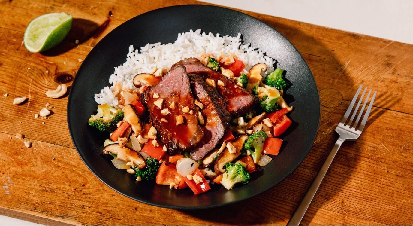 Mama's kung Pao Beef Plated