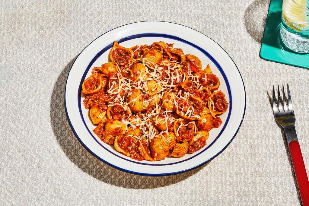 Cauliflower Shell Beef Bolognese