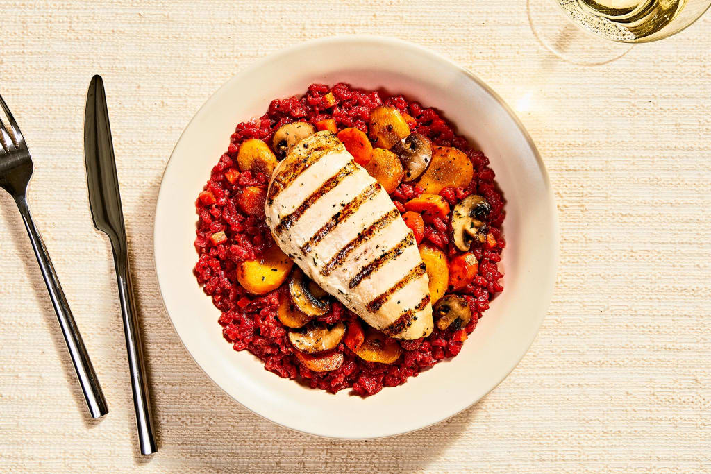 Brilliant Beet & Chicken Risotto