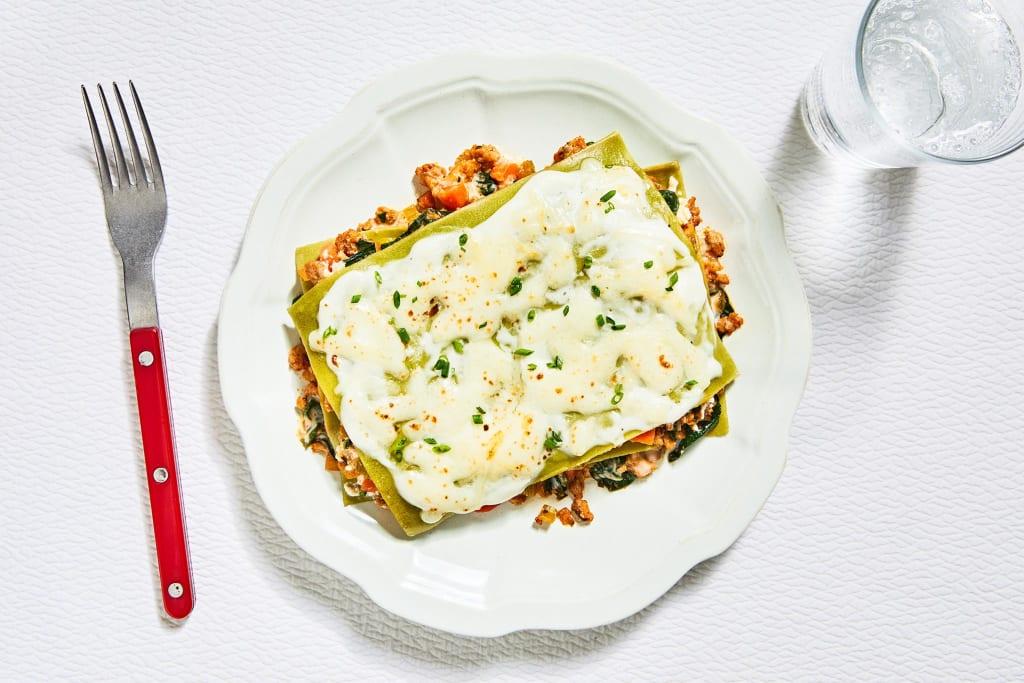 Three-Cheese Turkey Lasagna