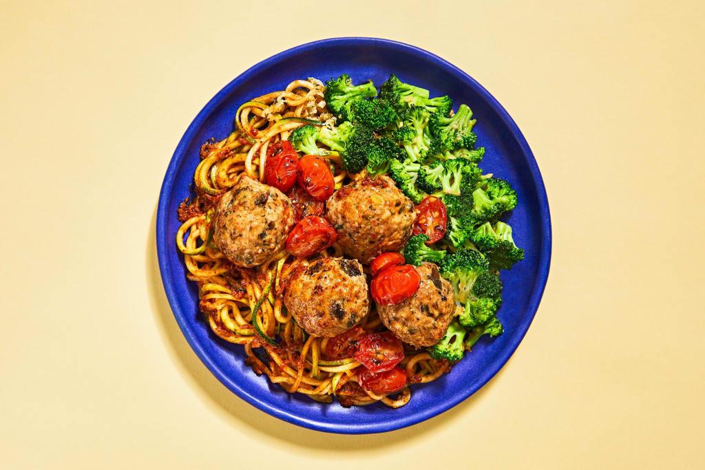 Turkey Meatballs & Zoodles