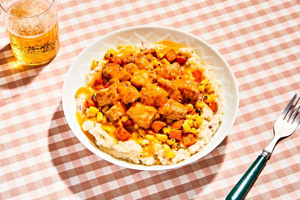 Golden Oven-Fried Chicken & Mash