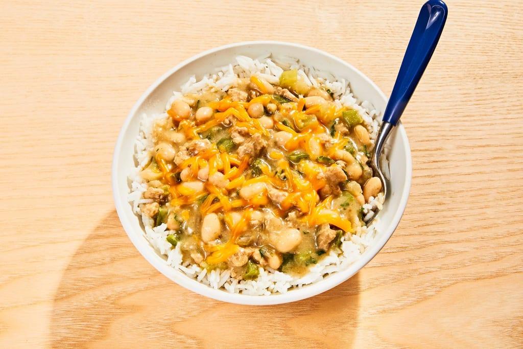 White Bean Turkey Chili Bowl