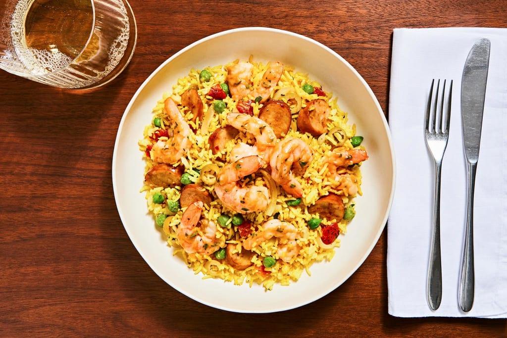 Shrimp & Andouille Paella