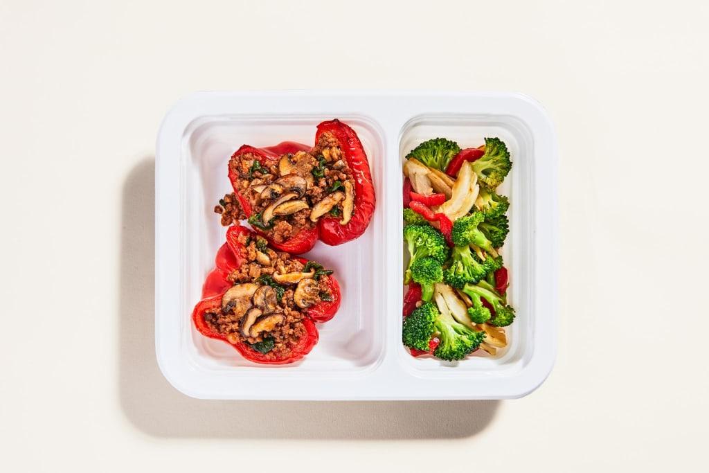 Beef & Veggie Stuffed Peppers