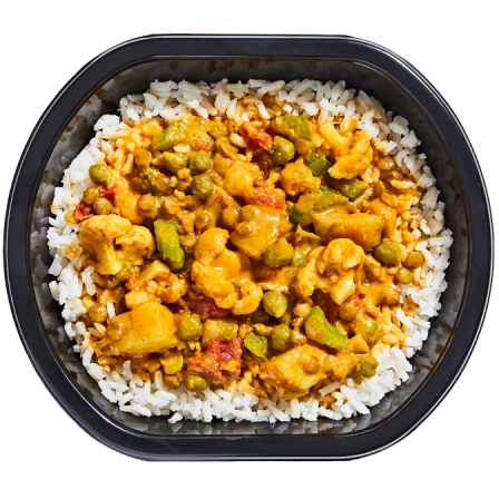 Indian-Spiced Chickpea Curry Bowl