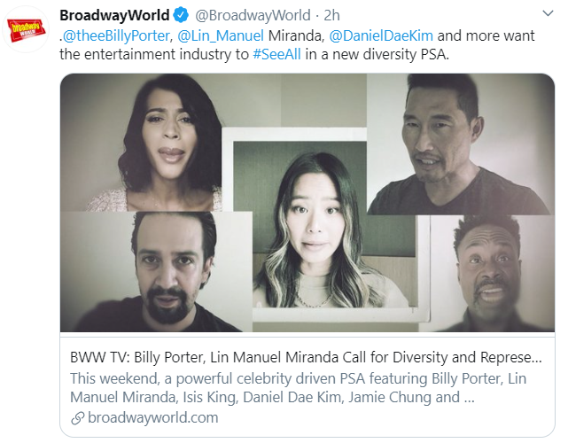 BroadwayWorld Tweet