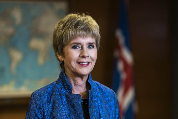 Iceland's Ambassador to Russia Berglind Ásgeirsdóttir, image courtesy Icelandic Ministry of Foreign Affairs