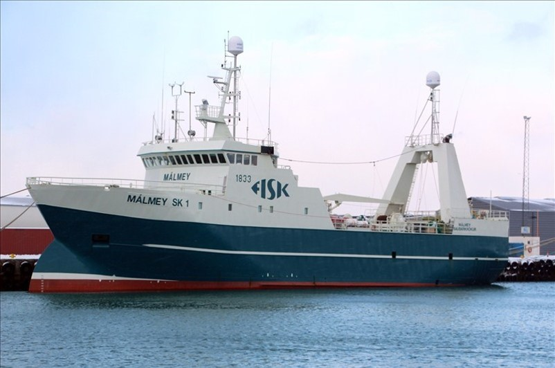 Málmey SK-1 landed 8.550 tonnes of fresh groundfish without using any ice - the highest quantity and highest average quantity per landing in Iceland for 2016.