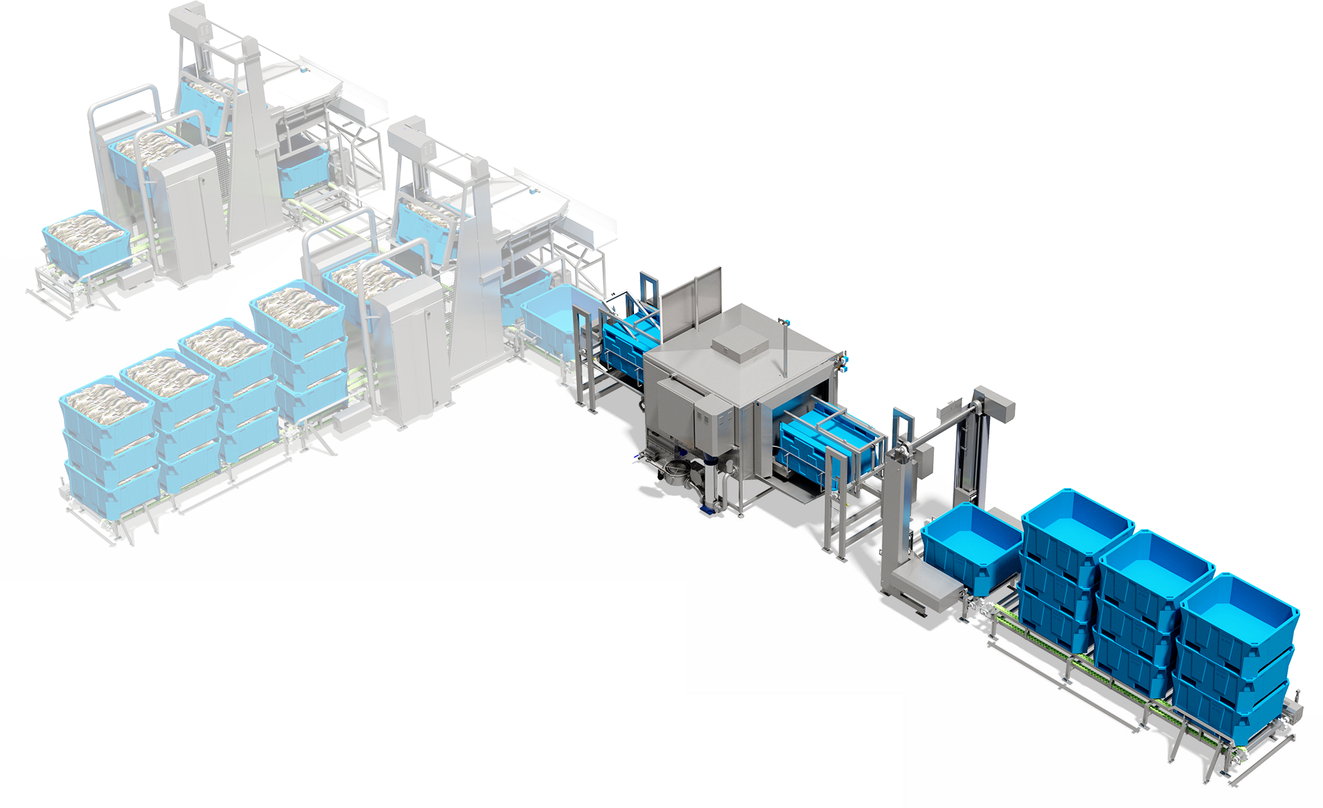 Flexible cost-effective, energy efficient modules with water recycling, reduced operational costs. Highly automated space-saving, with 5 times lower consumption.