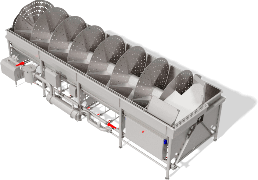 Computer controlled temperature and bleeding. Our seafood processing system offers longer shelf life, energy saving and easy integration in existing systems.