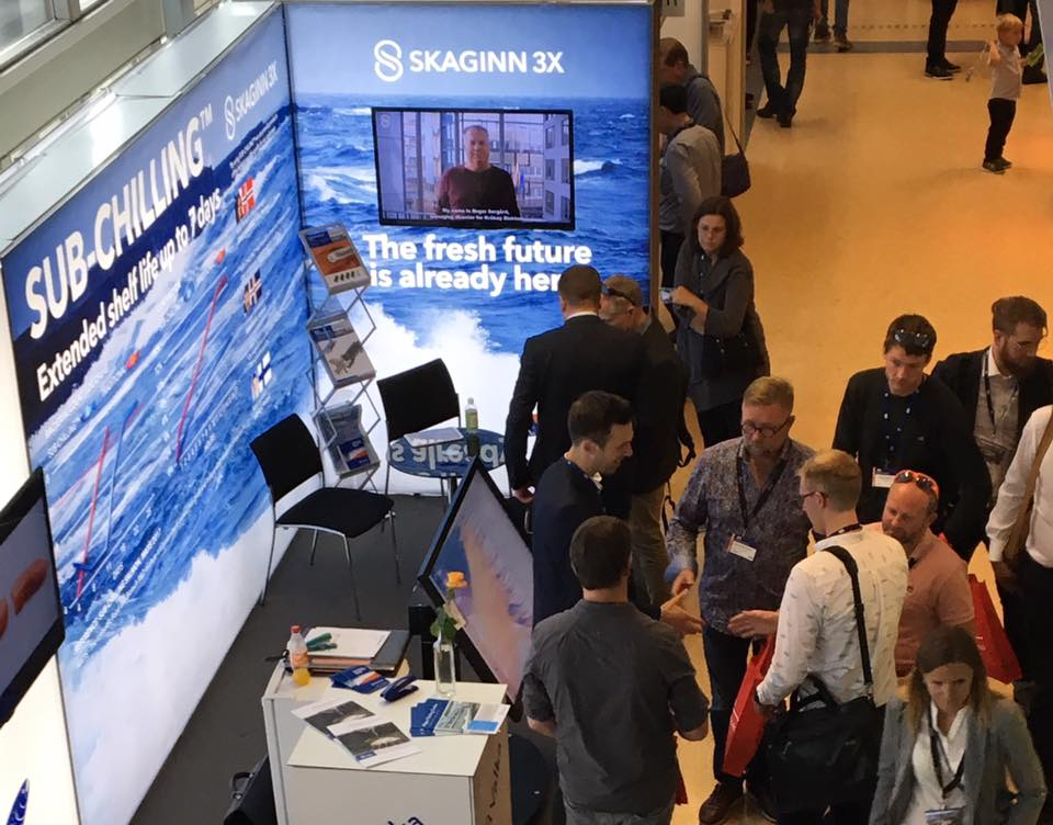 Skaginn3X got great traffic at the booth with a strong interest and was selected as one of the top three best booths at the exhibition.