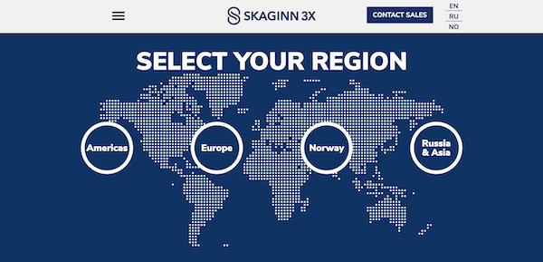 Skaginn 3X launches new sales network page on website to build a closer connection with customers.