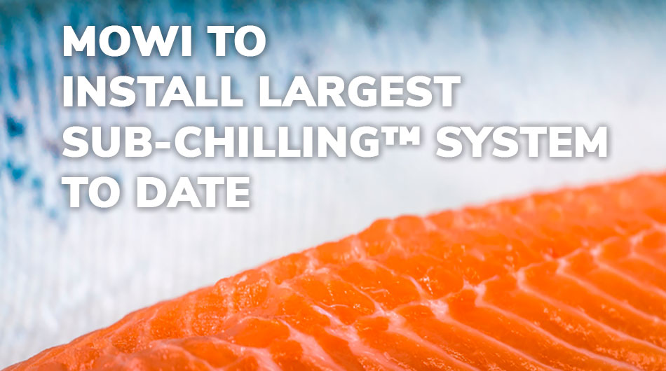 Mowi, Norway, to install Skaginn 3X's innovative Sub-Chilling™ salmon cooling system.