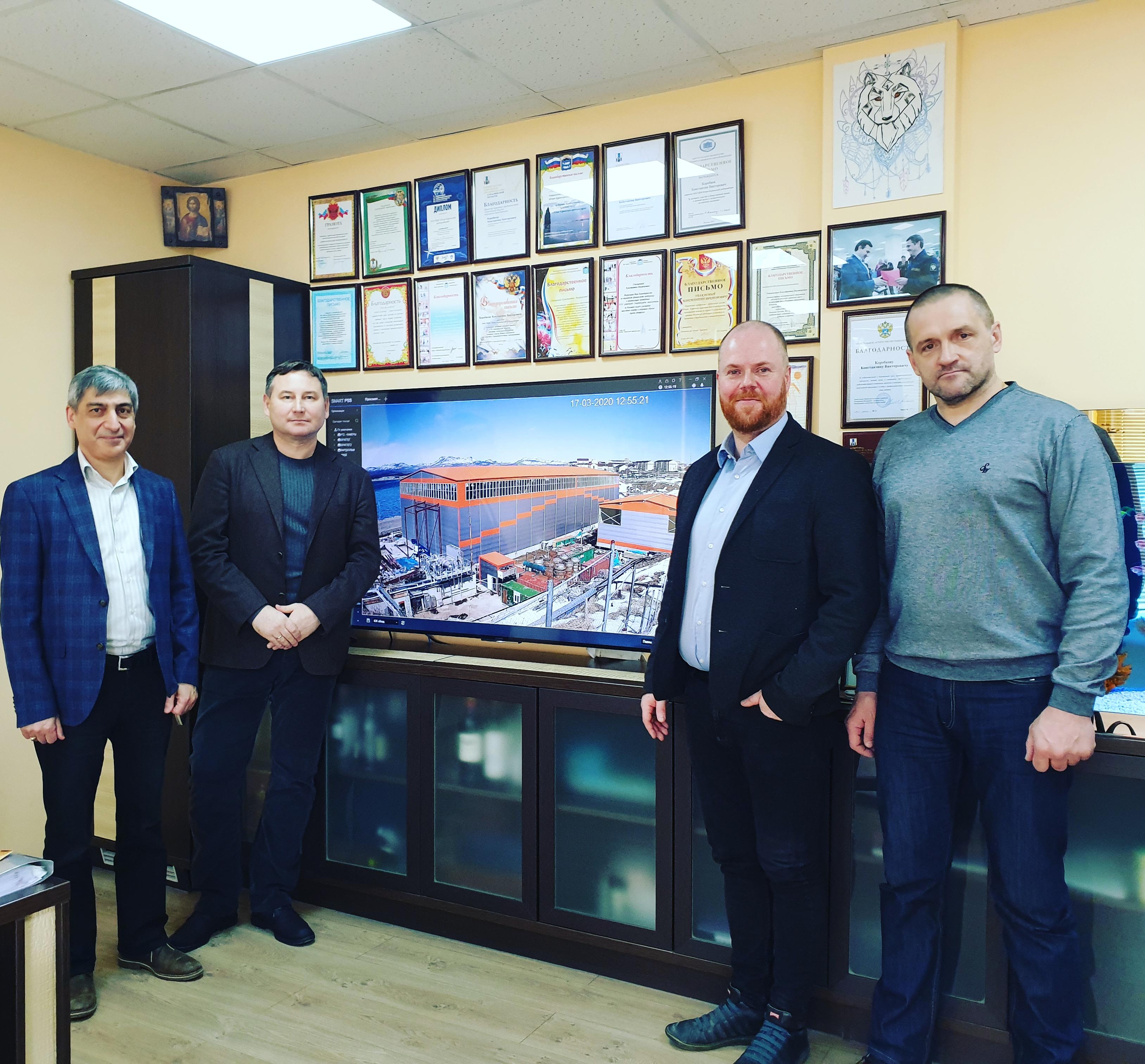 L to R Valeriy Akbashev, Konstantin Korobkov (owner of YKRK), Petur Pétursson , Vladimir Borodkin (Chief Production)