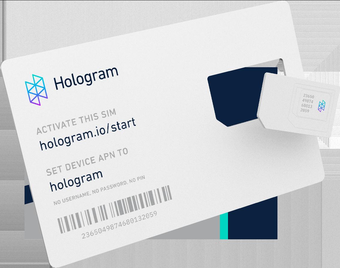 Back of the Hologram global IoT SIM card