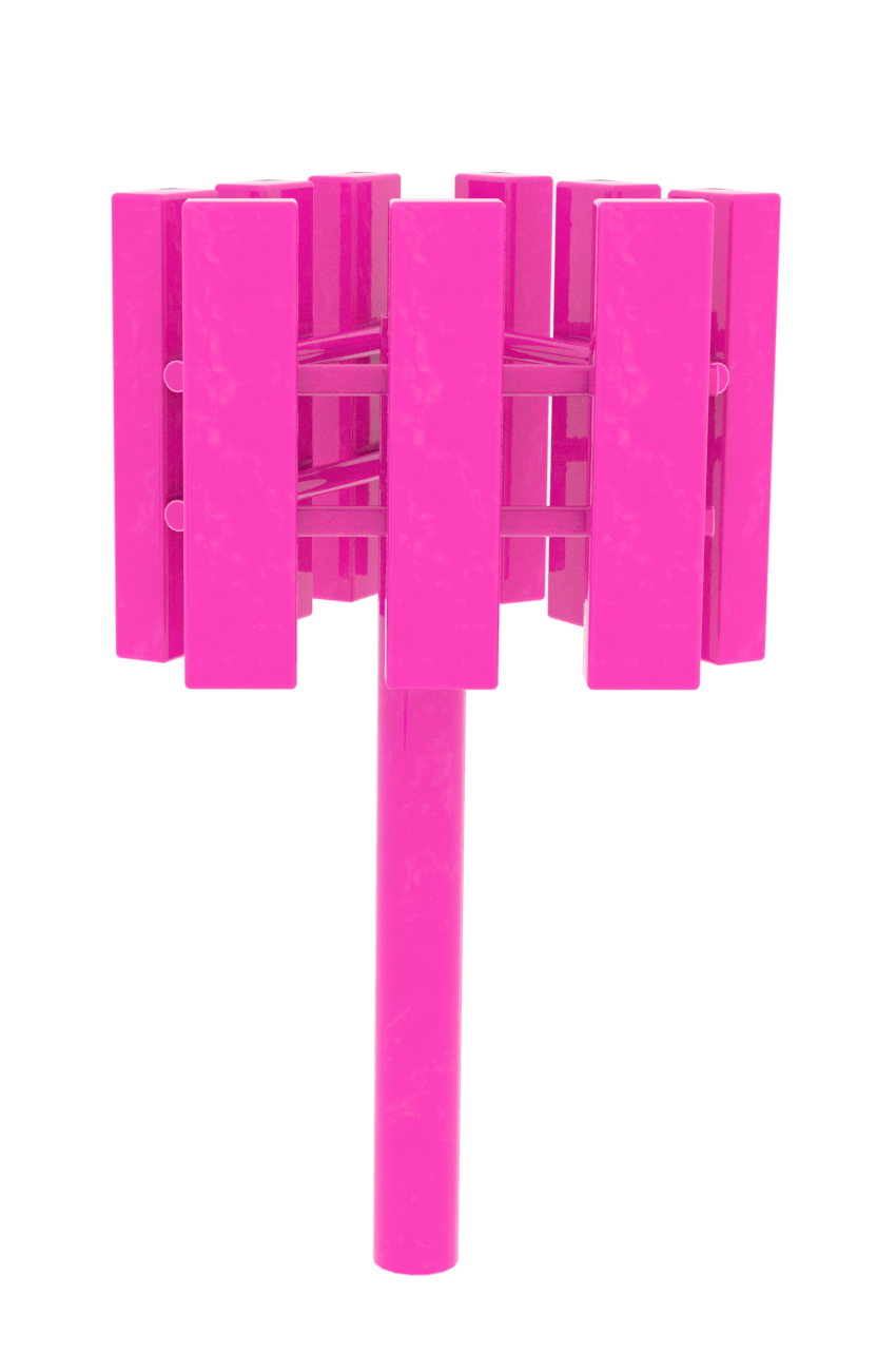 pink cell tower