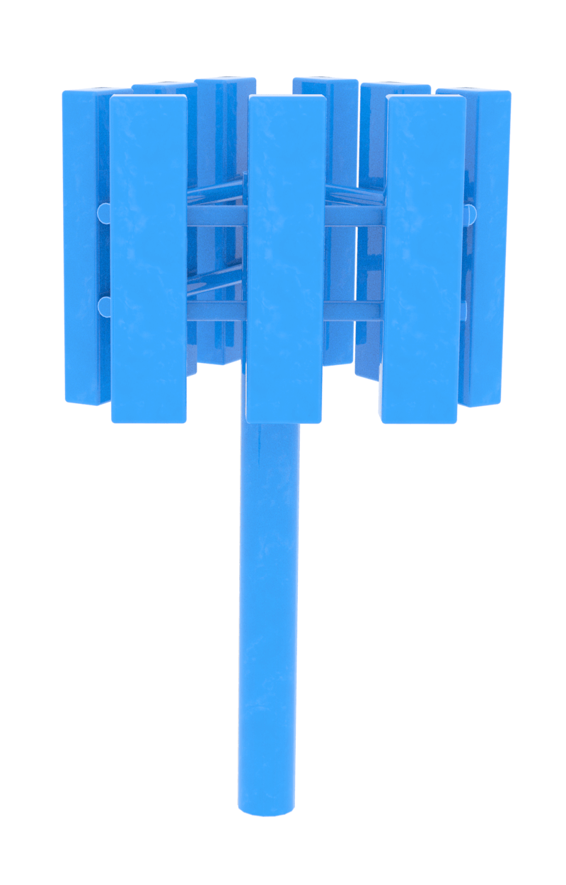 Blue 5G tower