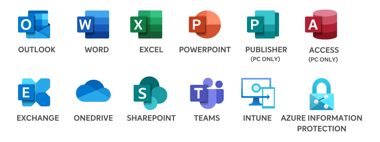 Managed IT Service Icons