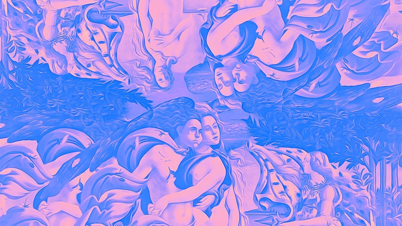 Peinture abstraite de Vénus.
