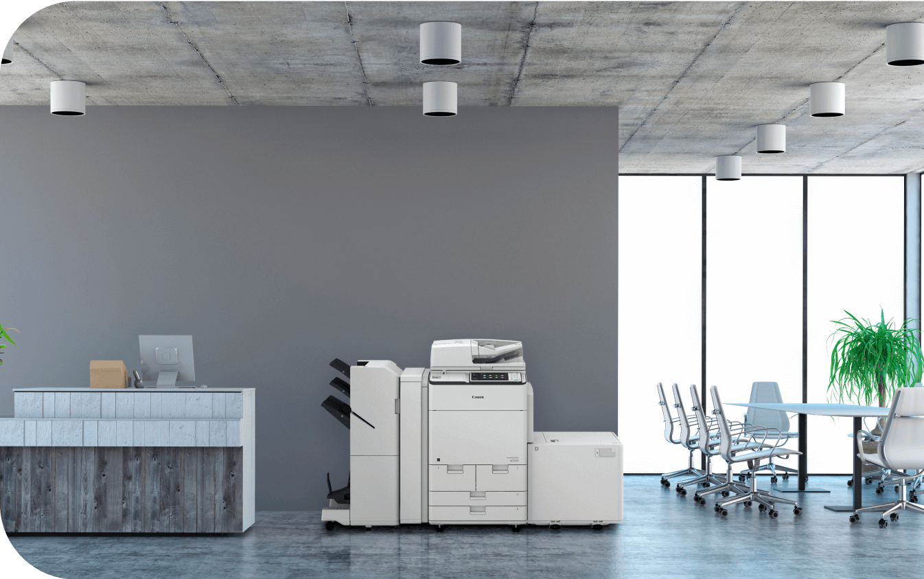 business copier in office