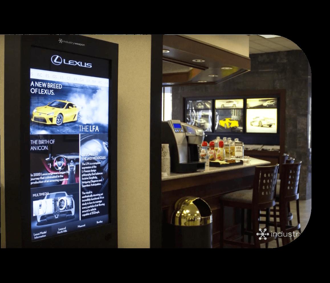 branded digital screen